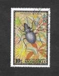 Sellos del Mundo : Asia : Mongolia : 667 - Escarabajo