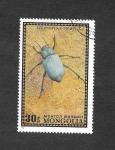Sellos del Mundo : Asia : Mongolia : 669 - Escarabajo