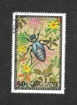 Stamps : Asia : Mongolia :  671 - Escarabajo