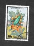 Sellos de Asia - Mongolia -  670 - Escarabajo