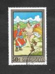 Stamps Mongolia -  Pintura