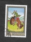 Sellos de Asia - Mongolia -  Pintura