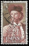 Stamps : Europe : Spain :  Fiesta nacional de Tauromaquia - Paquiro