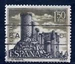 Stamps Spain -  Castillo de Peñafiel