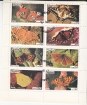 Stamps of the world : Nagaland :  MARIPOSAS