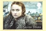 Sellos del Mundo : Europa : Reino_Unido : serie- tarjetas franqueadas