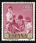 Sellos de Europa - España -  Dia del sello - Bartolome Murillo