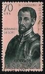 Sellos de Europa - España -  Forjadores de America - Hernando de Soto