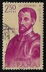 Stamps : Europe : Spain :  Forjadores de America - Hernando de Soto