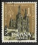 Stamps Spain -  XXV aniversario de la exaltacion del Gral Franco