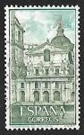 Sellos de Europa - España -  Monasterio del Escorial - Patio de los reyes