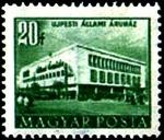 Stamps Hungary -  Edificios del plan quinquenal en Budapest