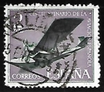 Stamps of the world : Spain :  L aniversario de la Aviacion Española - Hidroavion