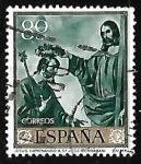 Sellos de Europa - España -  Francisco de Zurbaran - Jesus coronando a San Jose