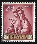 Stamps Spain -  Francisco de Zurbaran - La Virgen de la Gracia