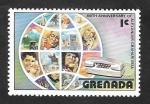 Sellos del Mundo : America : Granada : 724 - Usuarios de comunicaciones en globo