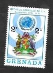 Sellos del Mundo : America : Granada : 587 - Admisión de Grenada a Naciones Unidas, escudo de armas de Grenada