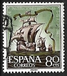 Stamps Spain -  Congreso de Instituciones Hispanicas - Naves de Colon