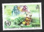 Sellos del Mundo : America : Granada : 468 - Poseidón, dios del mar
