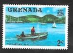 Sellos de America - Granada -  559 - Canoa taxi