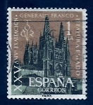 Stamps of the world : Spain :  XXV Anv.Exaltacion G. Franco