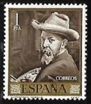 Sellos de Europa - España -  Joaquin Sorolla - Autorretrato
