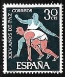 Sellos del Mundo : Europa : España :  XXV años de Paz Española - Deportes
