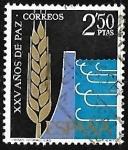 Stamps Spain -  XXV años de Paz Española - Regadios