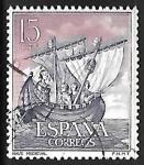 Sellos de Europa - España -  Homenaje a la Marina Española - Nave medieval