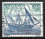 Sellos del Mundo : Europa : España : Homenaje a la Marina Española - Jabeque
