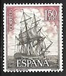 Sellos de Europa - España -  Homenaje a la Marina Española - Corbeta