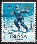 Sellos de Europa - España -  Juegos Olimpicos de Innsbruck y Tokio - Slalom