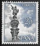 Stamps Spain -  Serie Turística - Monumento a Colon