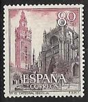 Stamps Spain -  Serie Turística - Catedral (Sevilla)