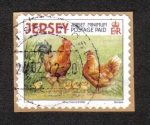 Stamps Jersey -  Animales de Granja