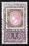 Sellos de Europa - España -  Centenario del primer sello dentado