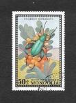 Sellos del Mundo : Asia : Mongolia : 670 - Escarabajo