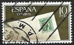 Stamps : Europe : Spain :  Dia mundial del sello 1966 - Signo de porteo de Alicante