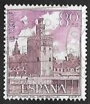 Sellos del Mundo : Europa : España : Serie Turística - Torre del Oro (Sevilla)