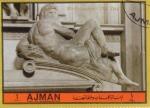 Stamps United Arab Emirates -  ESCULTURA DE MICHELANGELO