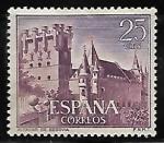 sellos de Europa - España -  Castillos de España - Alcázar de Segovia