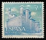Sellos de Europa - España -  Castillos de España - Olite (Navarra)