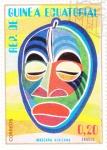 Stamps : Africa : Equatorial_Guinea :  MASCARA AFRICANA