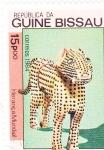 sello : Africa : Guinea_Bissau : FIGURA LEOPARDO-COSTA GOLFO DE GUINEA