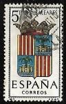 sellos de Europa - España -  Escudos de las capitales de  provincia españoles - Baleares