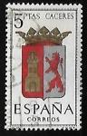 Stamps Spain -  Escudos de las capitales de  provincia españoles -  Caceres