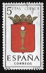 Sellos de Europa - España -  Escudos de las capitales de  provincia españoles -  Cuenca