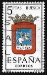 Stamps Spain -  Escudos de las capitales de  provincia españoles -  Huesca