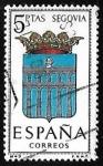 Stamps Spain -  Escudos de las capitales de  provincia españoles -  Segovia