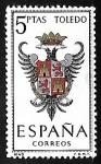 Sellos de Europa - España -  Escudos de las capitales de  provincia españoles -  Toledo